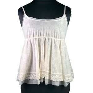 Free People Antique Lace Babydoll Chemise Top